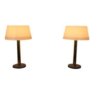 Mid-Century Modern Lightolier Lamps - A Pair