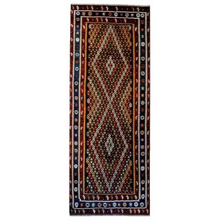 Fantastic Mid-20th Century Kirmanshah Kilim Runner