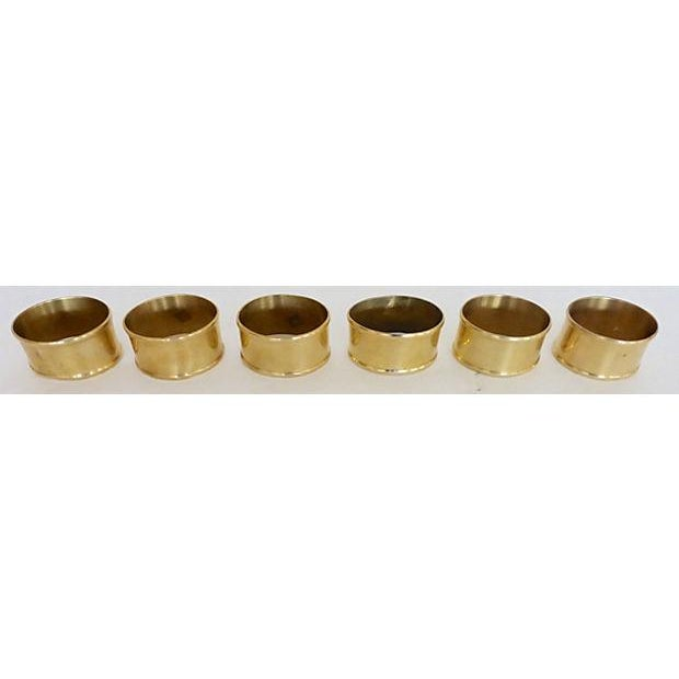 Brass Oval Napkin Rings - Set of 6 - Image 4 of 5