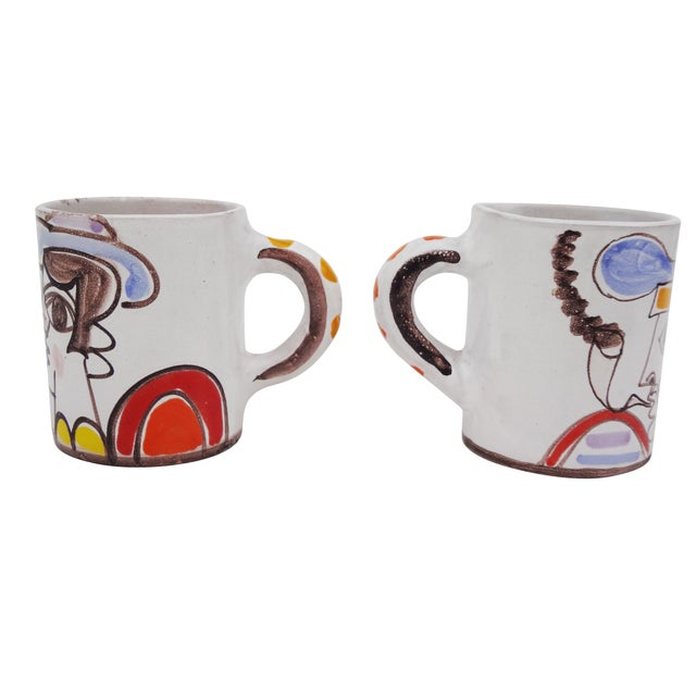 Ceramic Desimone Mugs - Pair - Image 3 of 7