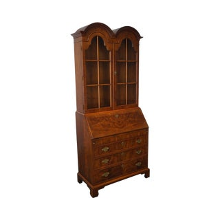 Henredon Folio 10 Windsor Walnut Double Bonnet Top Secretary Desk