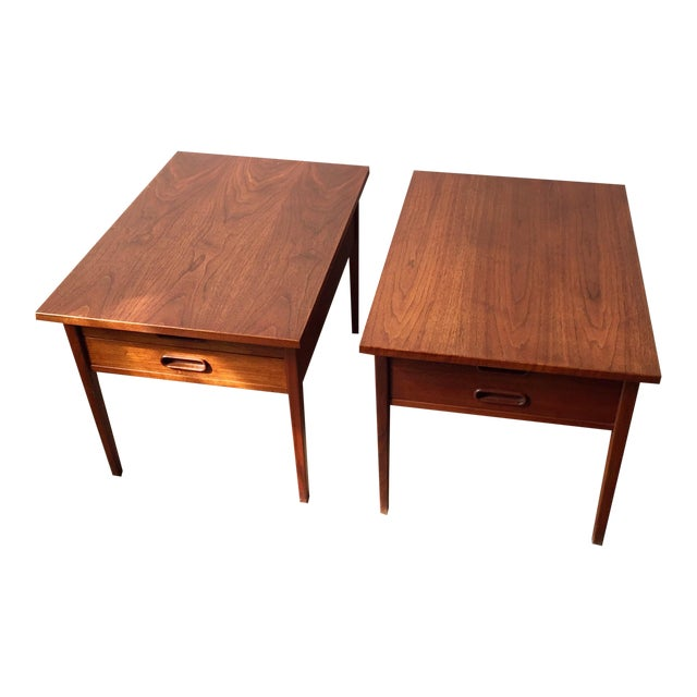 Teak Mid-Century Side Tables - Pair - Image 1 of 10