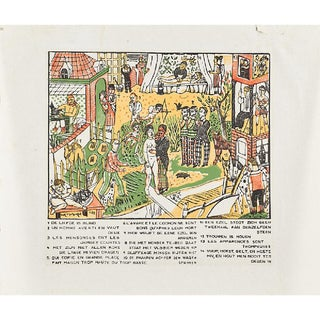 "Edgard Tytgat, ""Flemish Proverbs"" Woodcut Print, 1934"