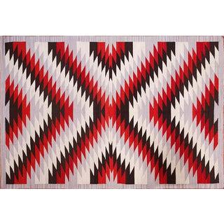 Large Navajo Style Wool Rug - 10′ × 14'