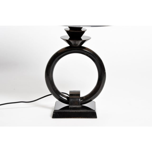 Image of Pair of Mid-Century Lamps with Black Lacquer