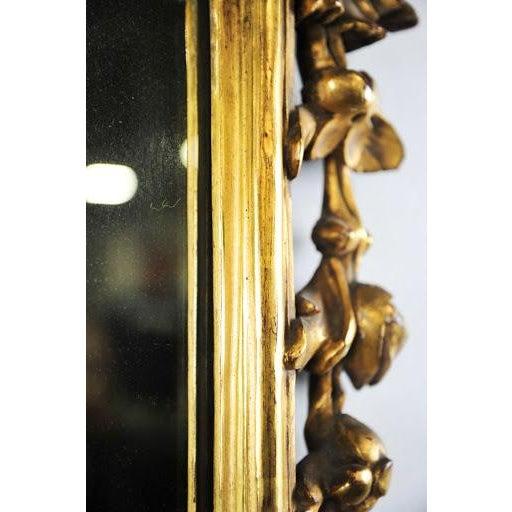 Antique Rococo Phoenix Crested Mirror - Image 3 of 11