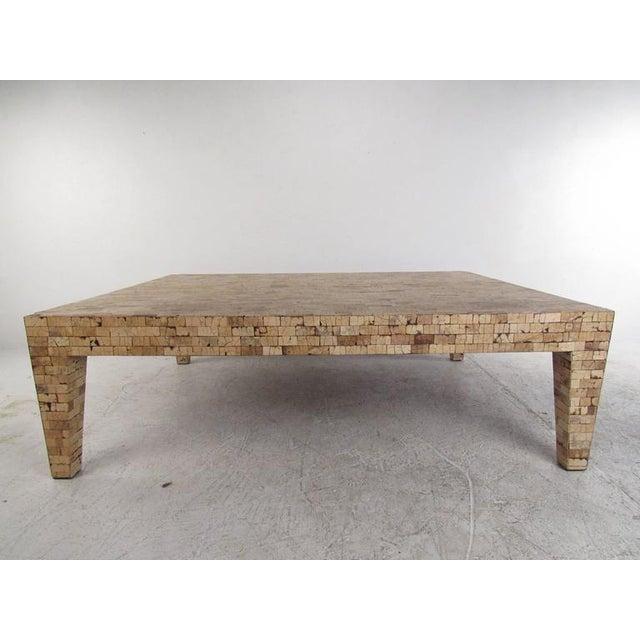 Mid Century Style Tessellated Cork Coffee Table Chairish