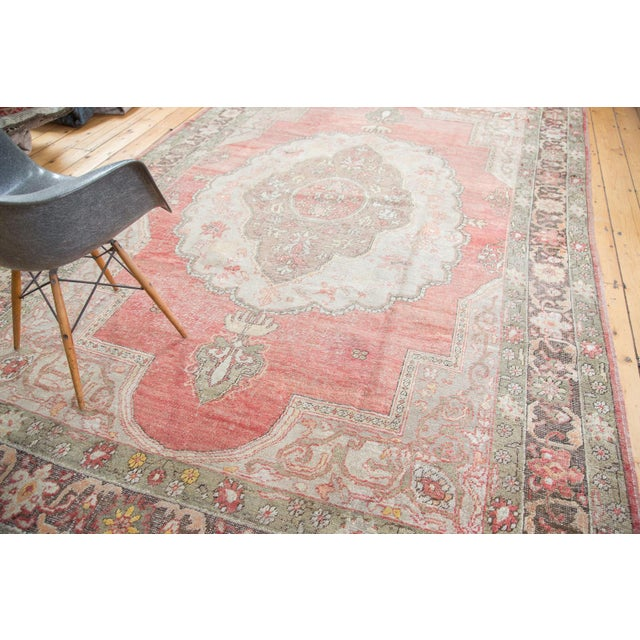 "Distressed Oushak Carpet - 7'6"" X 12'6"" - Image 7 of 10"