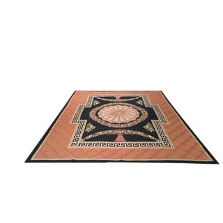 8′ X 10′ Crewel Embroidered Handmade Wool Rug - Size Cat. 8x10
