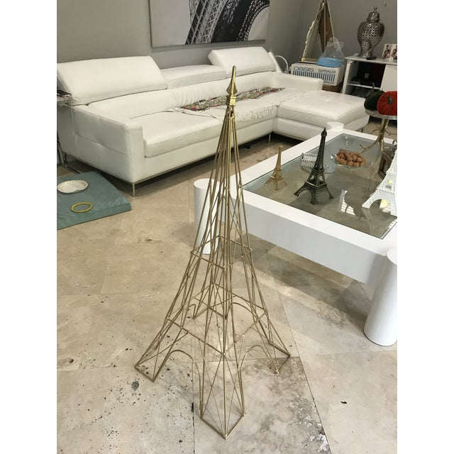 "Giant Eiffel Tower Sculpture Iron & Rare 46"" tall 18"" wide. - Image 9 of 11"