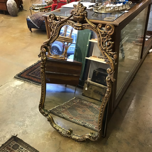 Image of Vintage Large Gold Gilt Mirror