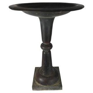 Monolithic Copper Garden Urn
