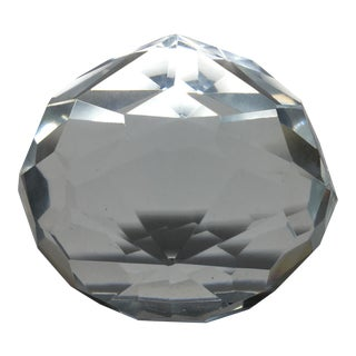 Vintage Faceted Crystal Paperweight