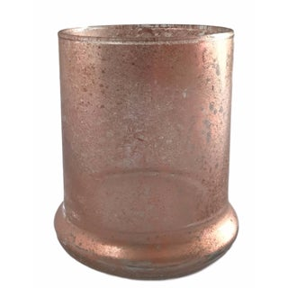 Small Rose Gold Glass Vase
