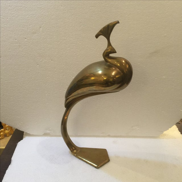 Vintage Brass Peacock - Image 2 of 6