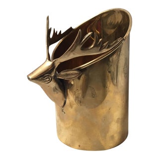 Brass Deer Wine Holder