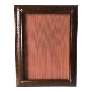 Vintage Italian Leather Picture Frame