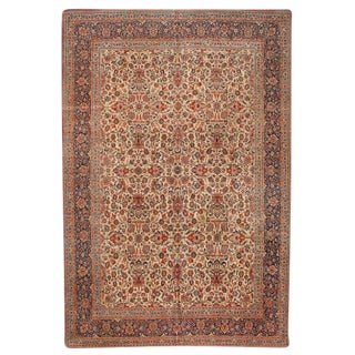 Exceptional Antique Dabir Kashan Carpet