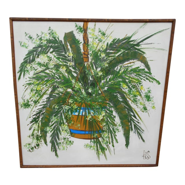 Hanging Plant Oil on Canvas - Image 1 of 5