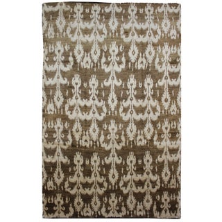 Aara Rugs Inc. Hand Knotted Ikat Rug - 9′2″ × 12′7″