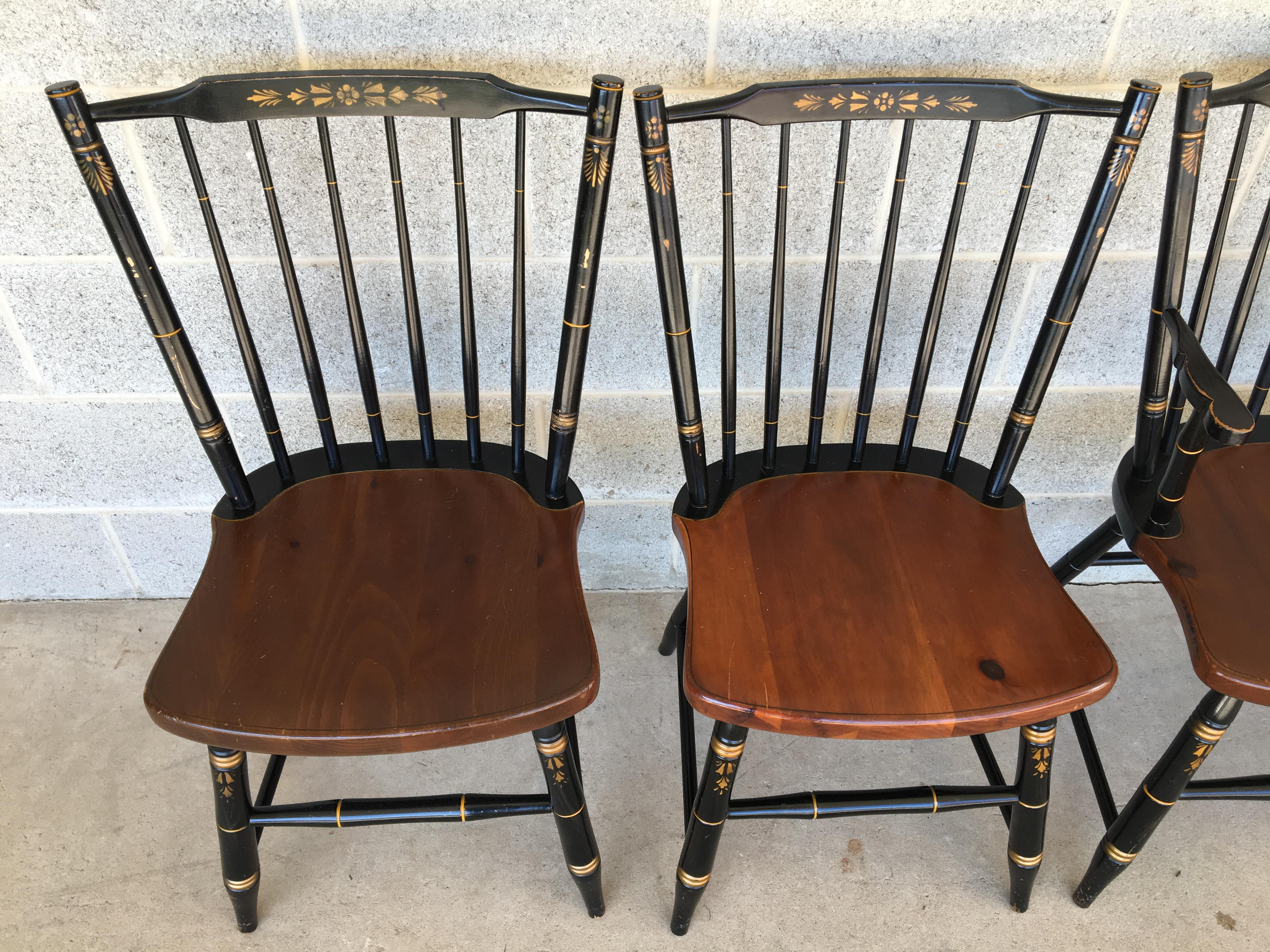 L. Hitchcock Windsor Stickback 440 Farmhouse Chairs   Set Of 6   Image 3 Of