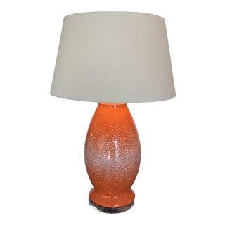 Orange & White Mosaic Lamp