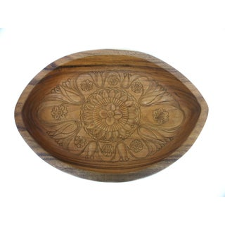 Balinese Oval Wood Bowl