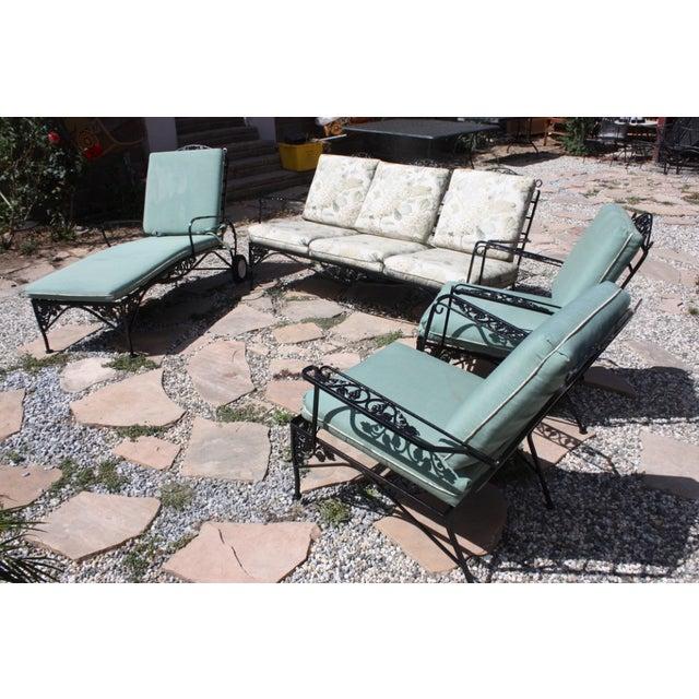 Image of Vintage Woodard Outdoor Conversation Set - 4