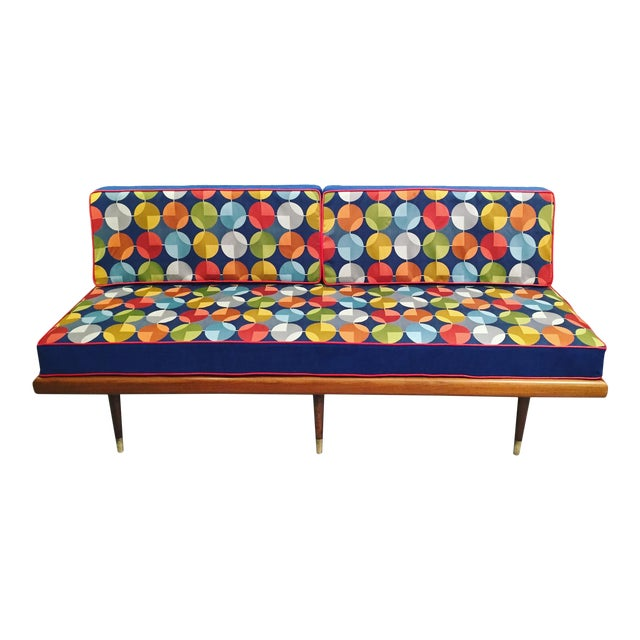 Mid century danish modern daybed settee or sofa chairish for Mid century daybed sofa