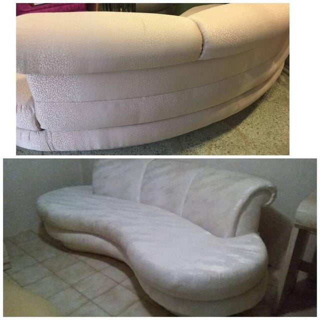 Vintage Adrian Pearsall Kidney Cloud Curved Sofas - Pair Available - Image 2 of 8
