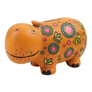 Takahashi Orange Rhino Piggy Bank
