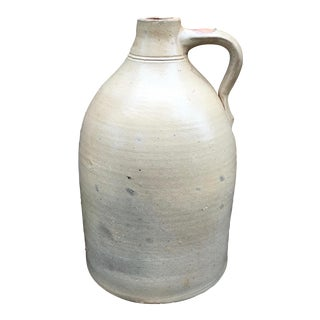 Antique Handmade Stoneware Pottery Jug
