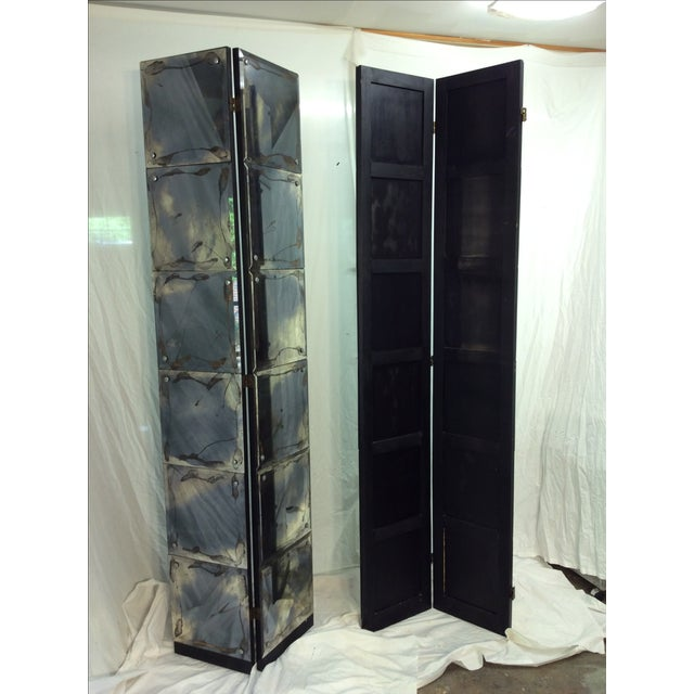 Image of Mid-Century Modern Mirrored Four-Panel Screen
