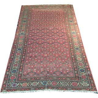"Antique Persian Hamedan Area Rug - 3'-8"" x 6'"