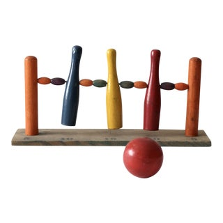 Antique Table Top Bowling Game