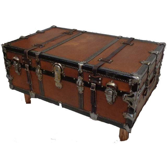 Premium Steamer Trunk Coffee Table - Image 4 of 4