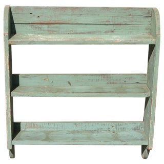 Antique Painted Pine Shelving Unit