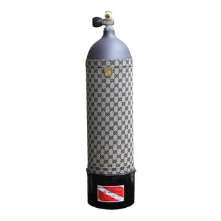 Vintage Gucci Embroidery Decorative Oxygen Tank