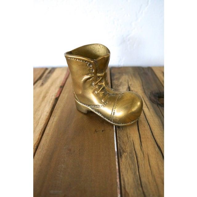 Image of Brass Boot Pen Holder