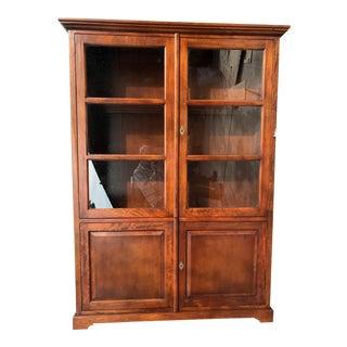 Crate & Barrel Glass Doors Cabinet