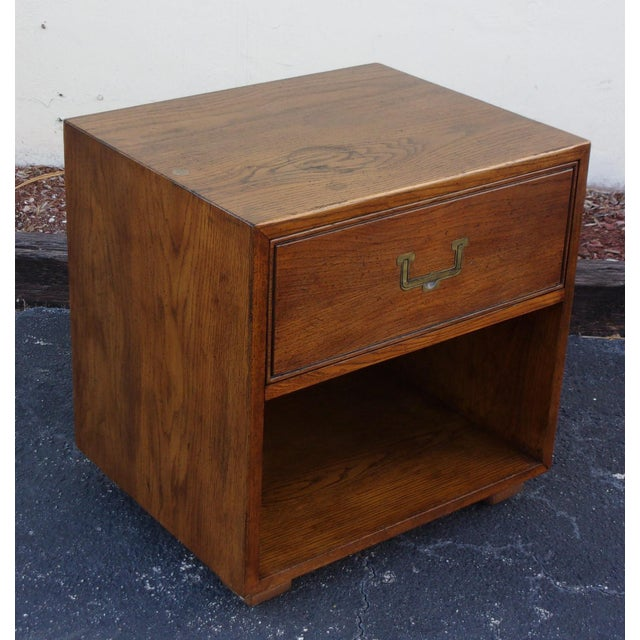 Mid-Century Modern Campaign Style Nightstand - Image 4 of 4