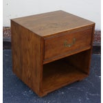 Image of Mid-Century Modern Campaign Style Nightstand