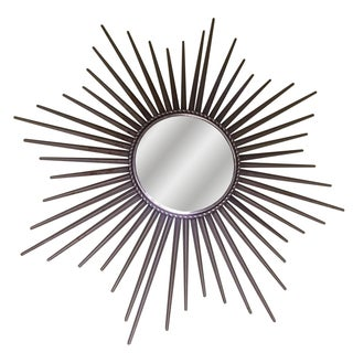 Silver Metal Starburst Mirror