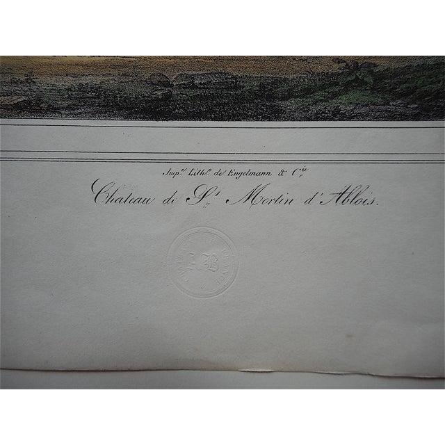 Antique Chateaux De France Lithograph - Image 3 of 3