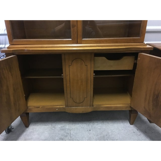 Vintage Fruitwood Hutch China Cabinet - Image 4 of 7