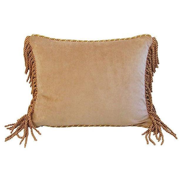 Designer Scalamandre Melograno Lampas Pillow - Image 6 of 6