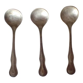 Antique Sterling Silver Salt Spoons S/3