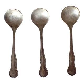 Antique Sterling Silver Salt Spoons S/3