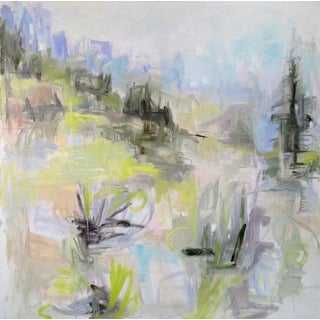 "Large Minimalist Landscape -Trixie Pitts ""Colorado Cool"""