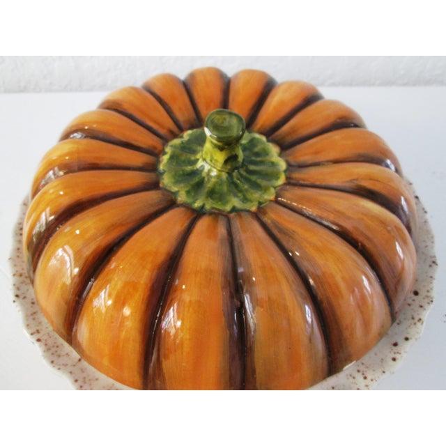 Vintage Ceramic Lidded Pumpkin Pie Dish - Image 3 of 7